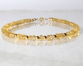 Citrine gemstone bracelet, arm candy bracelet, stackable bracelet, friendship bracelet, yoga bracelet