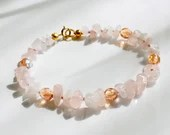 Rose quartz bracelet, arm candy bracelet, stackable bracelet, friendship bracelet
