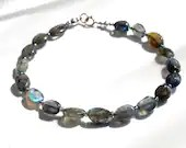 Labradorite gemstone bracelet, arm candy bracelet, friendship bracelet, stackable bracelet
