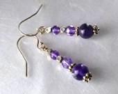 Amethyst earrings, Februa...