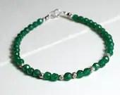 Agate gemstone bracelet, stackable bracelet, yoga bracelet, arm candy