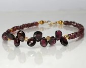 Garnet gemstone bracelet, arm candy bracelet, friendship bracelet, January birthstone