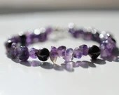Amethyst bracelet, arm candy bracelet, stackable bracelet, friendship bracelet