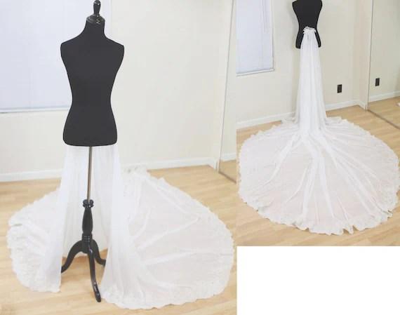Detachable Train For Wedding Dress Chiffon Detachable