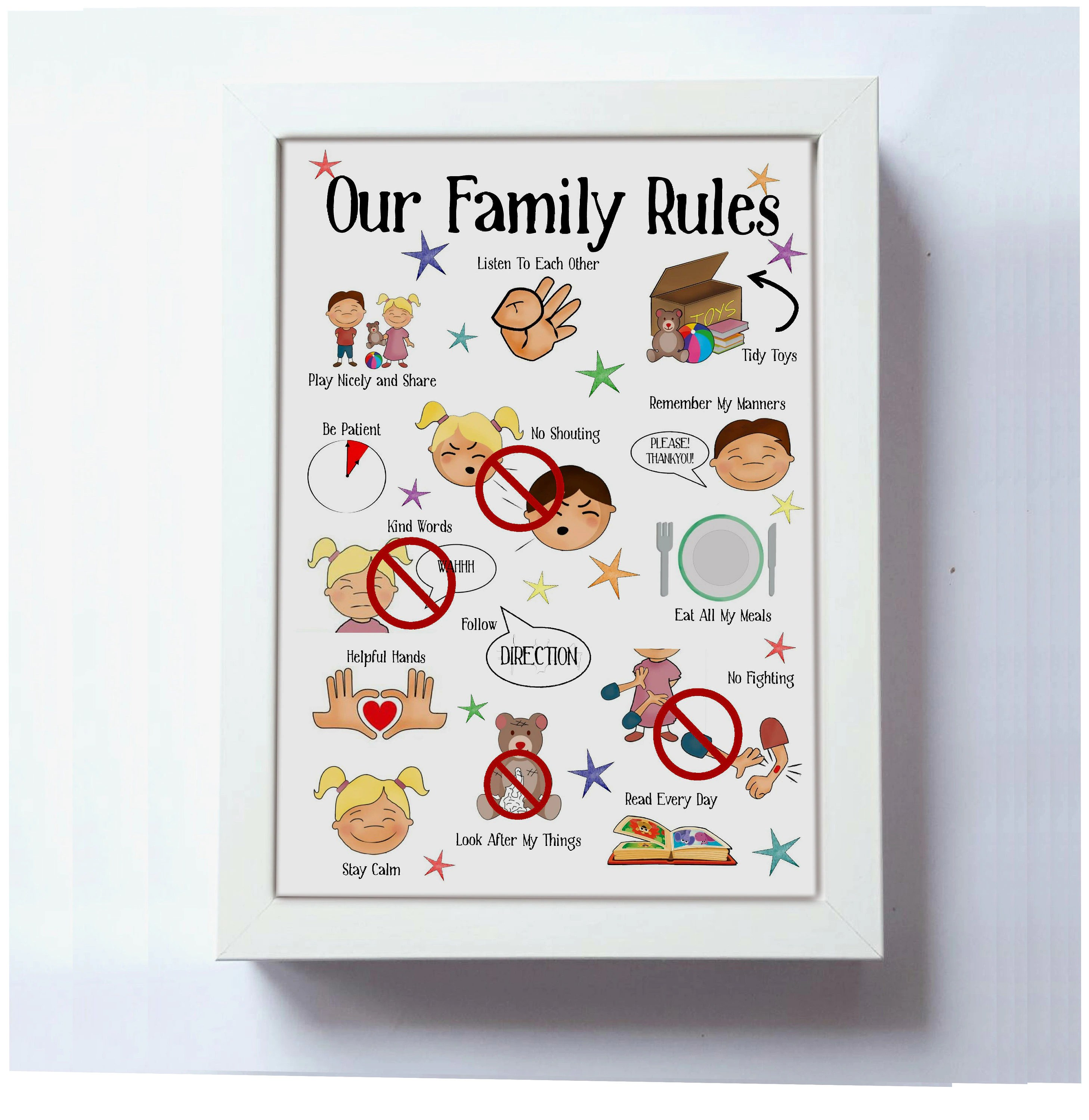 Kids Behaviour Printable Family Rules Instant Download