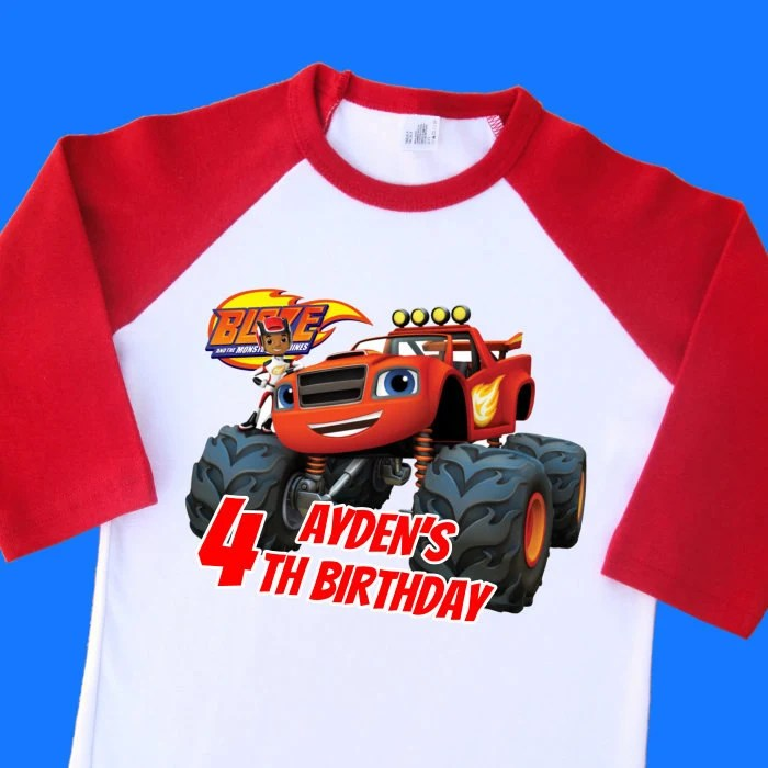 Blaze And The Monster Machines Birthday Shirt Personalized Etsy