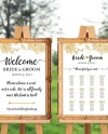 Wedding Welcome Sign And Seating Chart Wedding Ceremony Sign Etsy