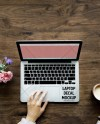 Flowers And Wood Trackpad Laptop Decal Mockup Laptop Mockup Etsy
