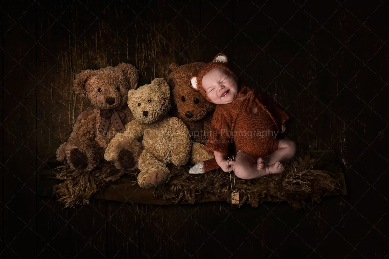 Newborn Digital Backdrop Shelf Teddy Bear Three