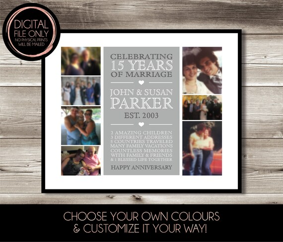 Personalised Wedding Anniversary Print