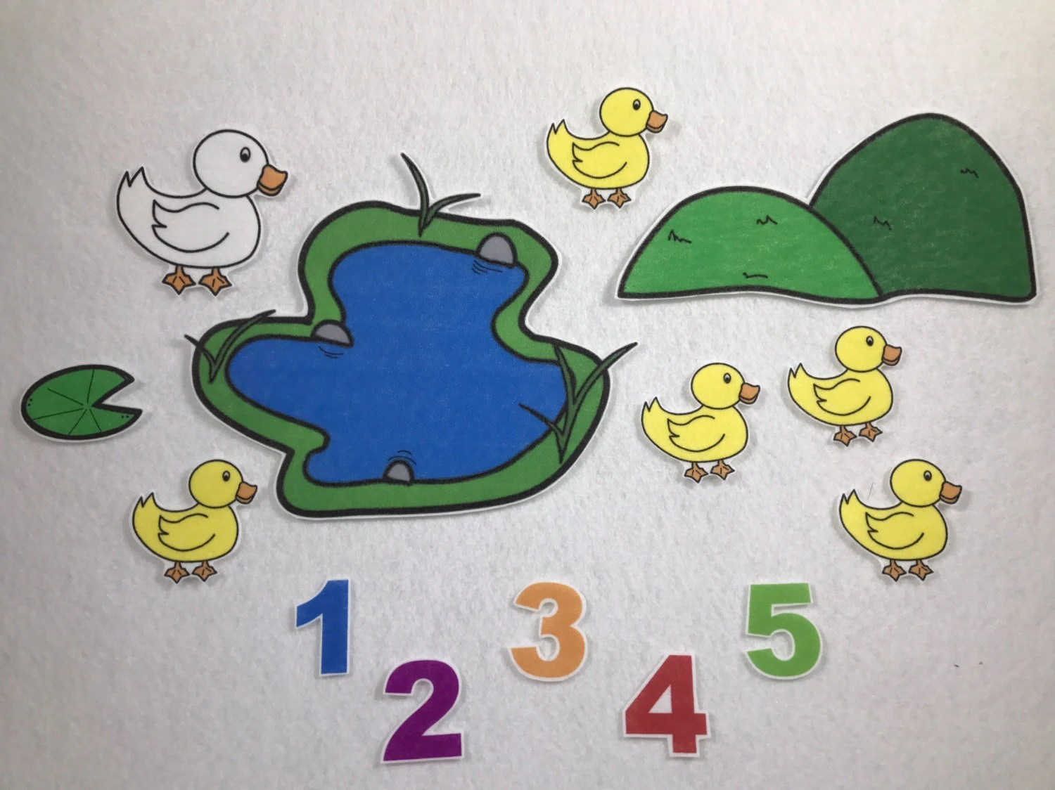Five Little Ducks Felt Stories Speech Therapy Counting