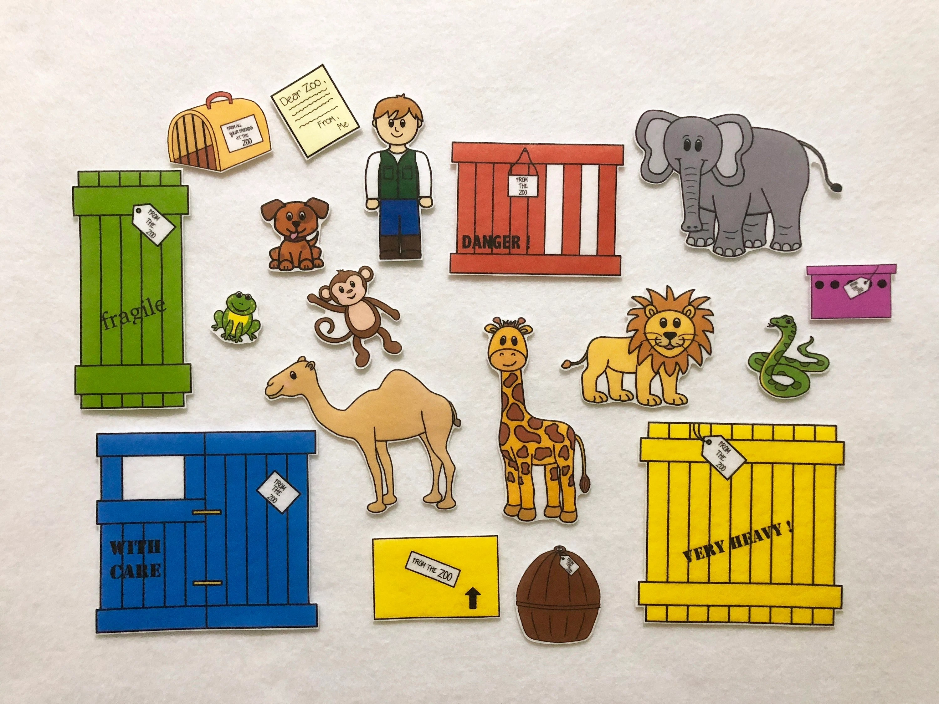 Dear Zoo Animals Felt Stories Speech Therapy Zoo Animals