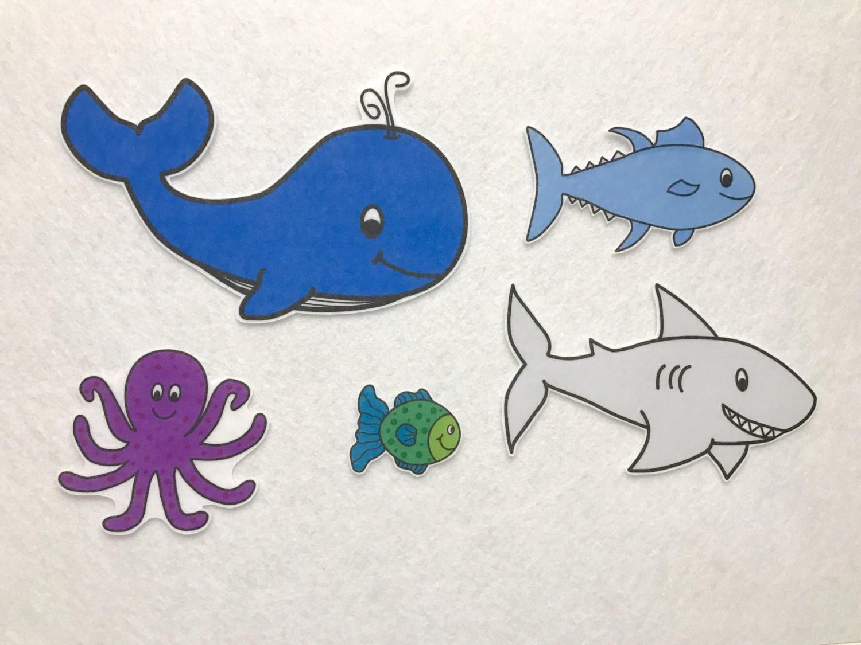 Slippery Fish Felt Story Flannel Board Set Preschool