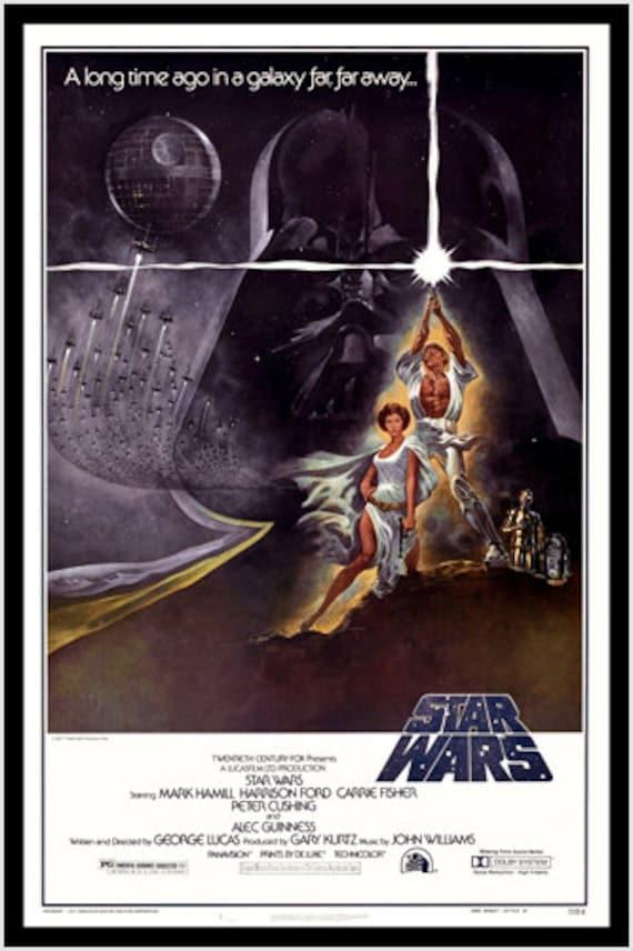 star wars film poster sexy prinzessin leia und luke skywalker lichtschwert 24 x 36