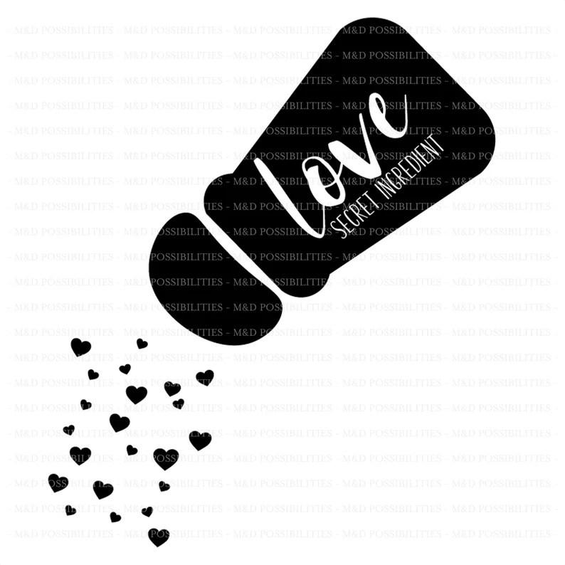 Download SVG Cut File Love is the Secret Ingredient | Etsy