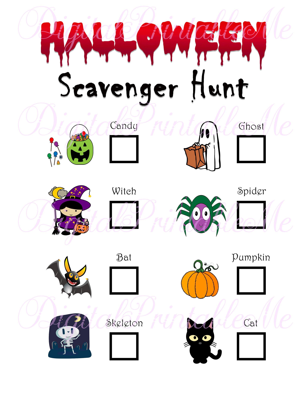 Halloween Scavenger Hunt Printable Kids Activity Backyard