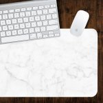 White And Grey Marble Large Desk Mat 10 X 16 Placemat Beautiful Design Fabric Print Mouse Pad Co Worker Gift
