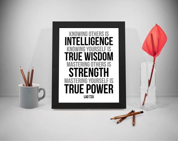 Andere Zu Kennen Ist Intelligenz Lao Tzu Lao Tzu Zitat Lao Tzu Kunst Lao Tzu Druck