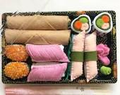 sushi set, felt sushi, Play food, foodie gift, fake sushi, food toy, felt toys, gift for kids, kitchen toys, fake food, Montessori toys, set
