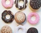 Felt doughnut, Play food, felt toy, Fake food, Waldorf toy, Hanukkah gift, Pretend play, Felt food, Kitchen toys, doughnut toy, food toy