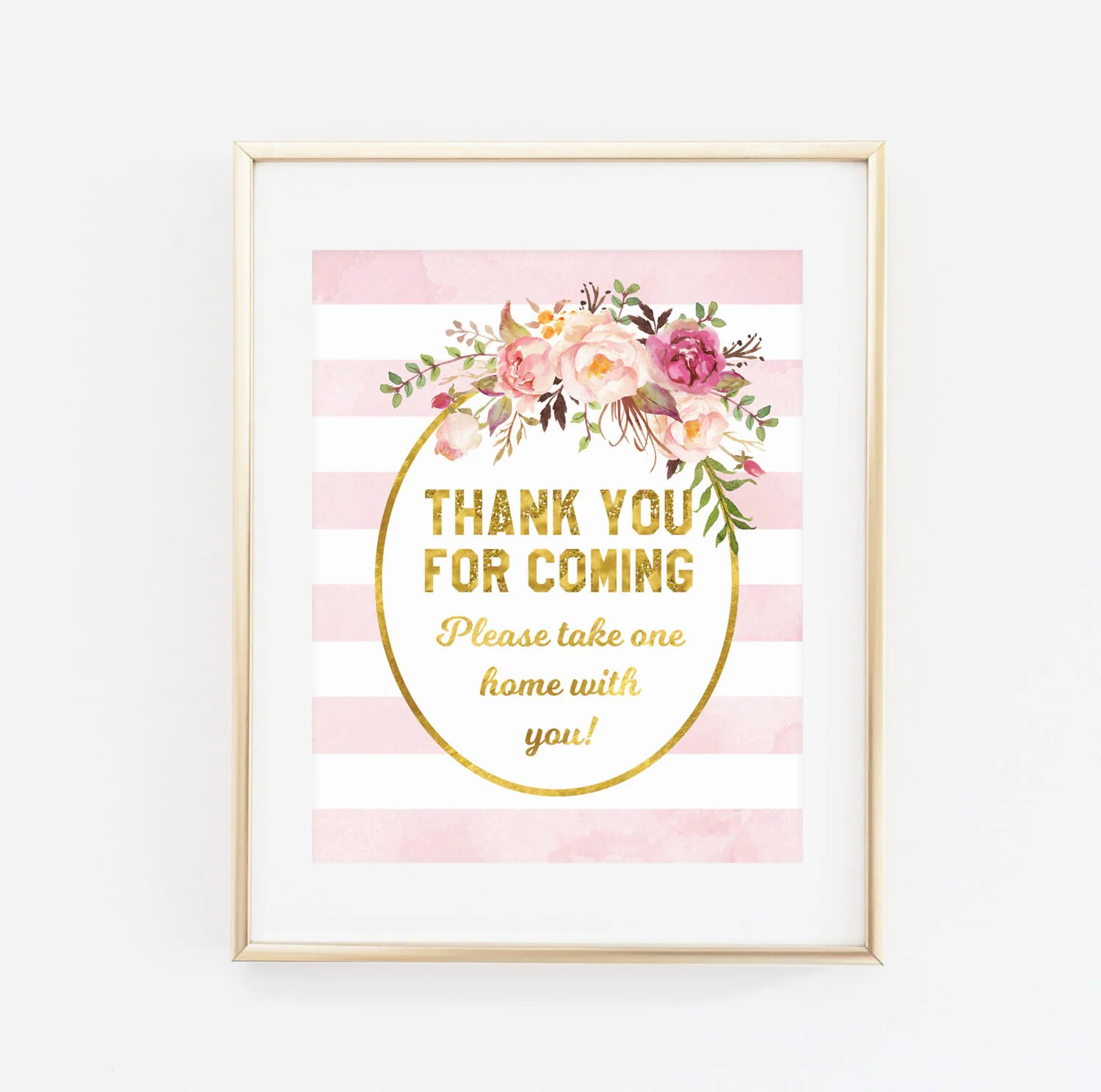 Printable Baby Shower Sign Thank You For Coming Please