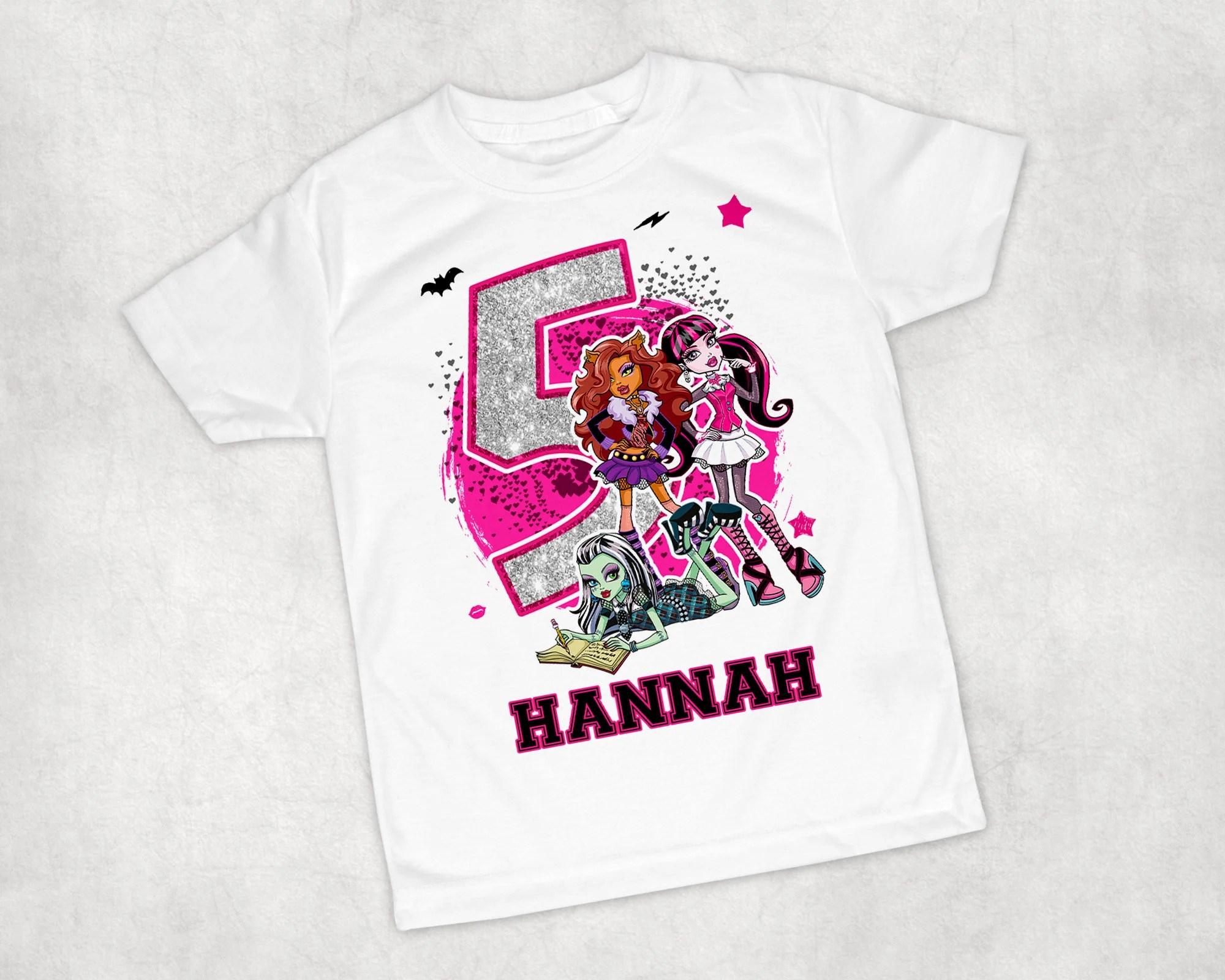 Monster High T Shirt Etsy