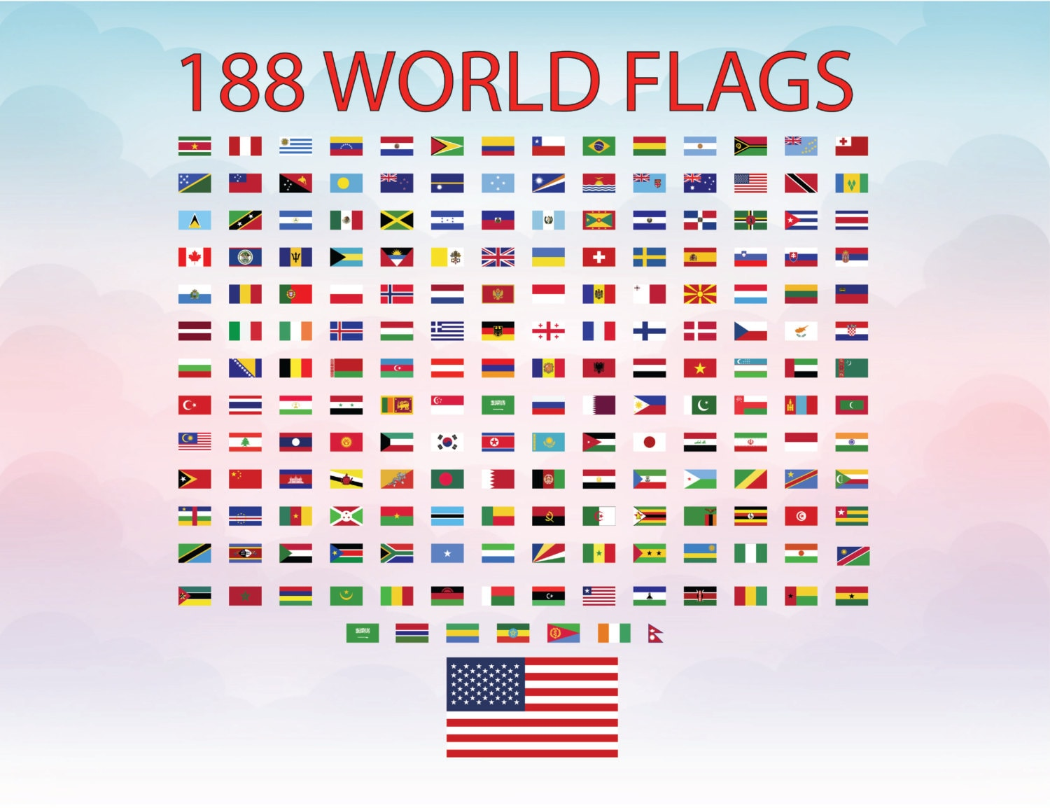 World Flags Svg Cutting File Flags 188 Countries Svg