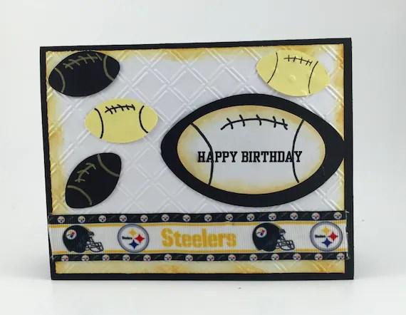 Pittsburgh Steelers Cardpittsburgh Steelers Etsy