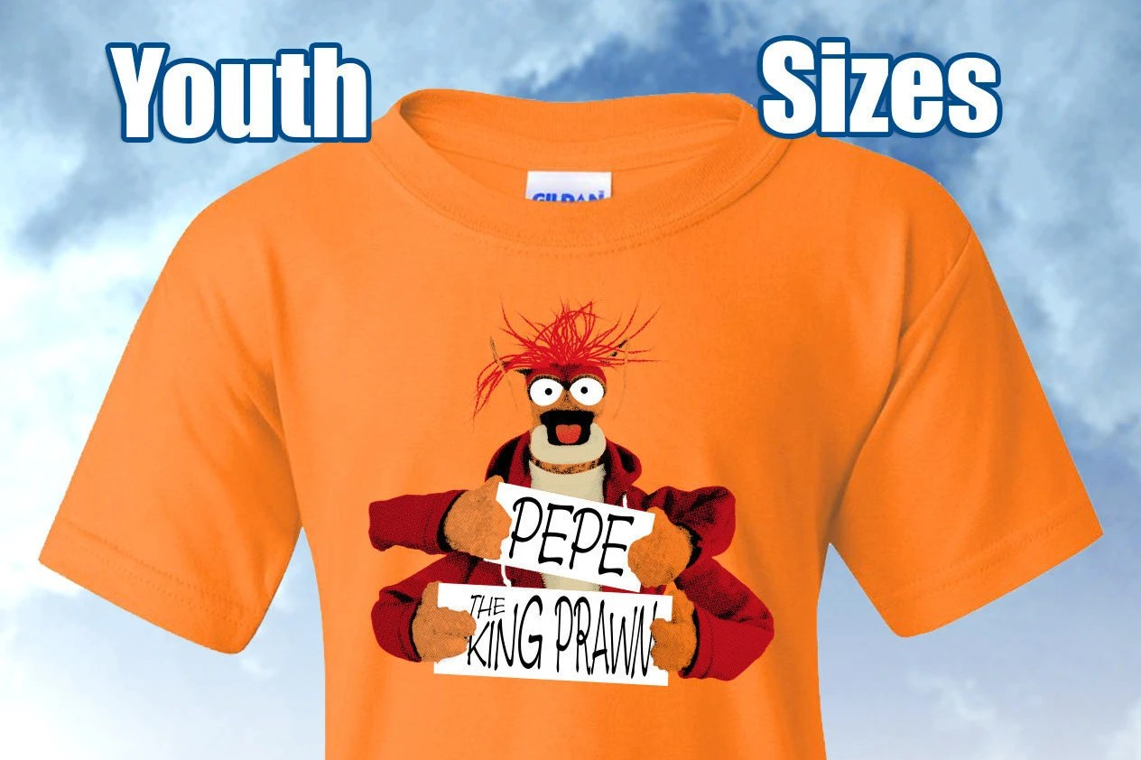 Muppets Pepe Fan Shirt Youth Sizes Etsy