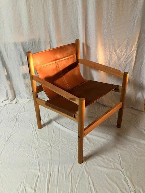 Sling Chair Leather Chair Accent Chair Modern Chair Contemporary Chair Mid Century Chair Danish Chair Scandinavian Chair Nordic