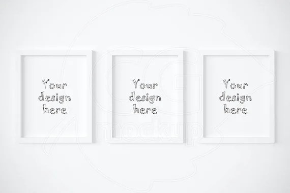 set of 3 frame mockups 8x10 white frame mockup digital product mock up artprint mock up styled stock wall art mock ups top sellers