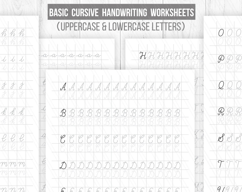 Beginner Hand Lettering Worksheets Cursive Handwriting