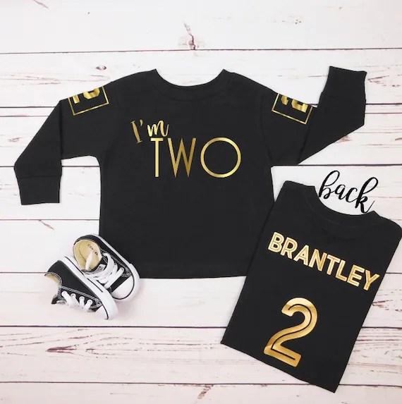 2 Year Old Birthday Boy Shirt Any Age 1st Birthday Outfit Etsy