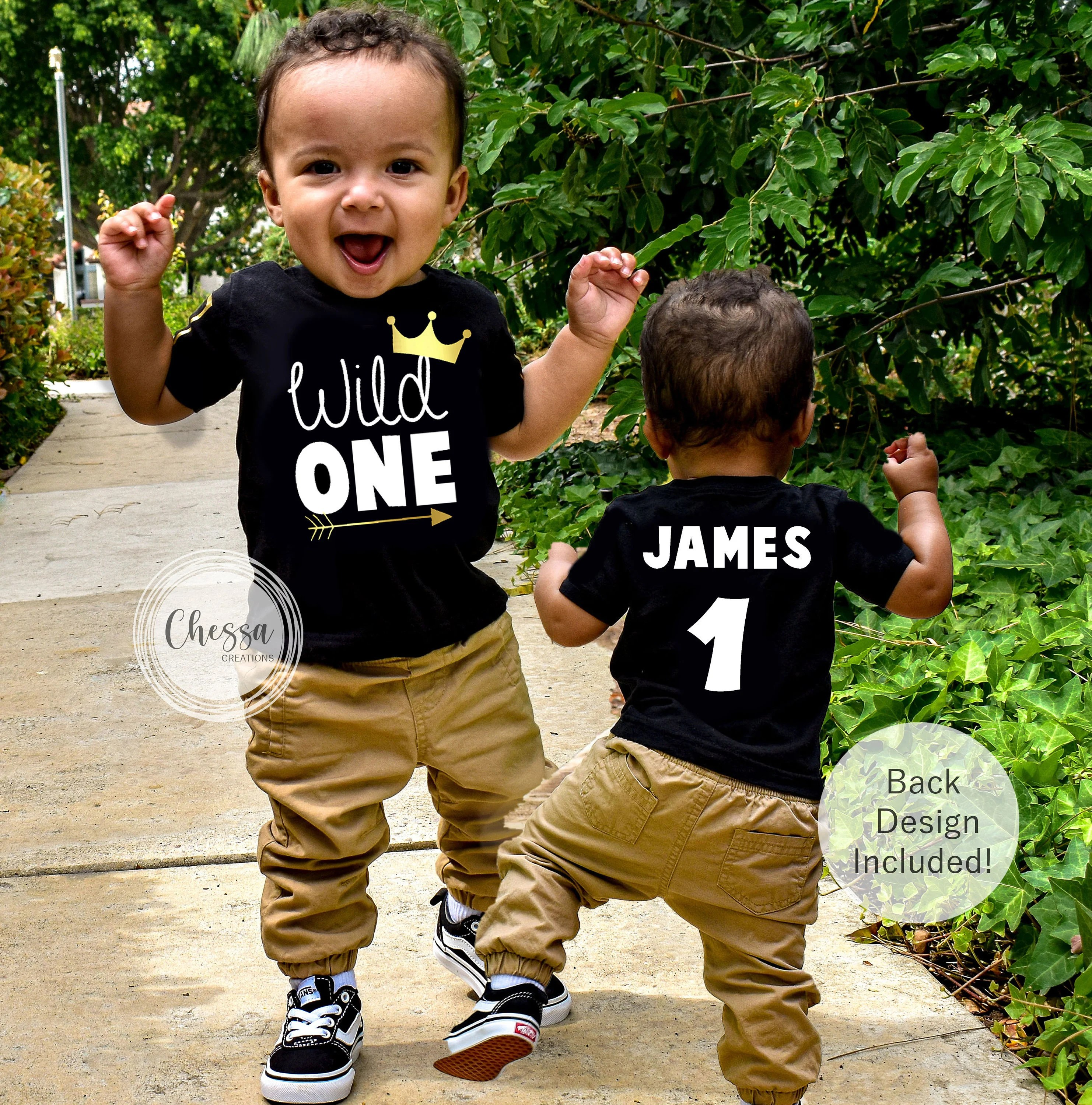 1st Birthday Boy Outfit Wild One Year Old Jungle First Etsy