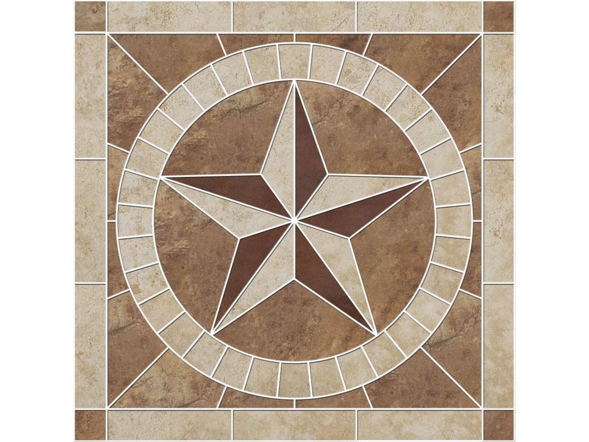 texas star porcelain tile mosaic medallion etsy