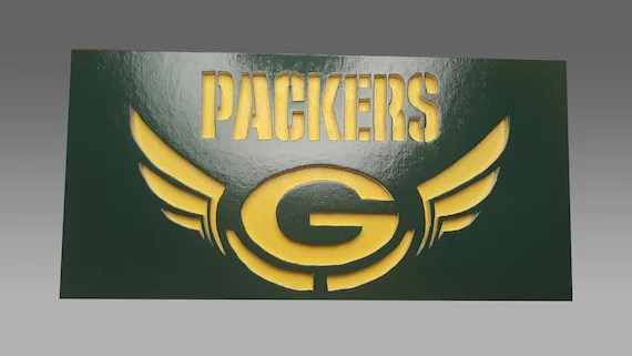 Green Bay Packers Scroll Saw Art Wall Art Wall Decor Etsy