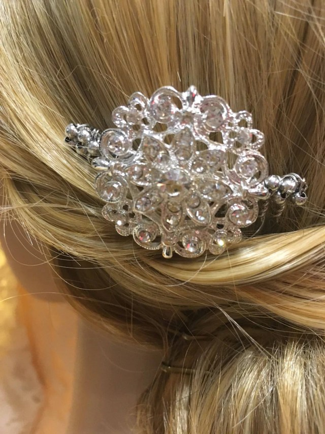 hand made hair comb- vintage style bridal, bridesmaid, prom hair comb, wedding hair accessories