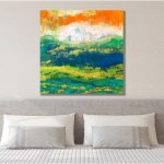 Master Bedroom Wall Decor Living Room Wall Art Decor Bedroom Wall Art Over The Bed Master Bedroom Decor Orange Landscape Painting On Canvas