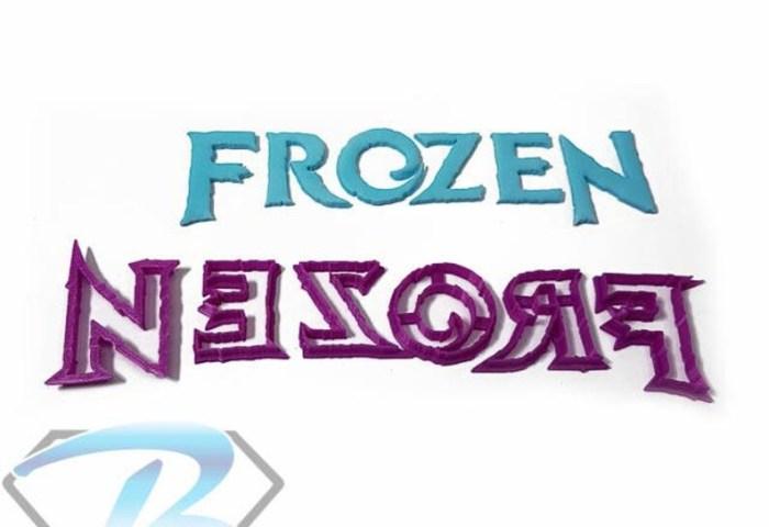 Frozen Logo Cookie Fondant Cutter 3cm 4cm 5cm Birthday Cake Etsy