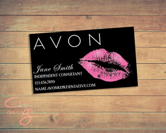 Avon Business Card Printable Download Lips Kiss