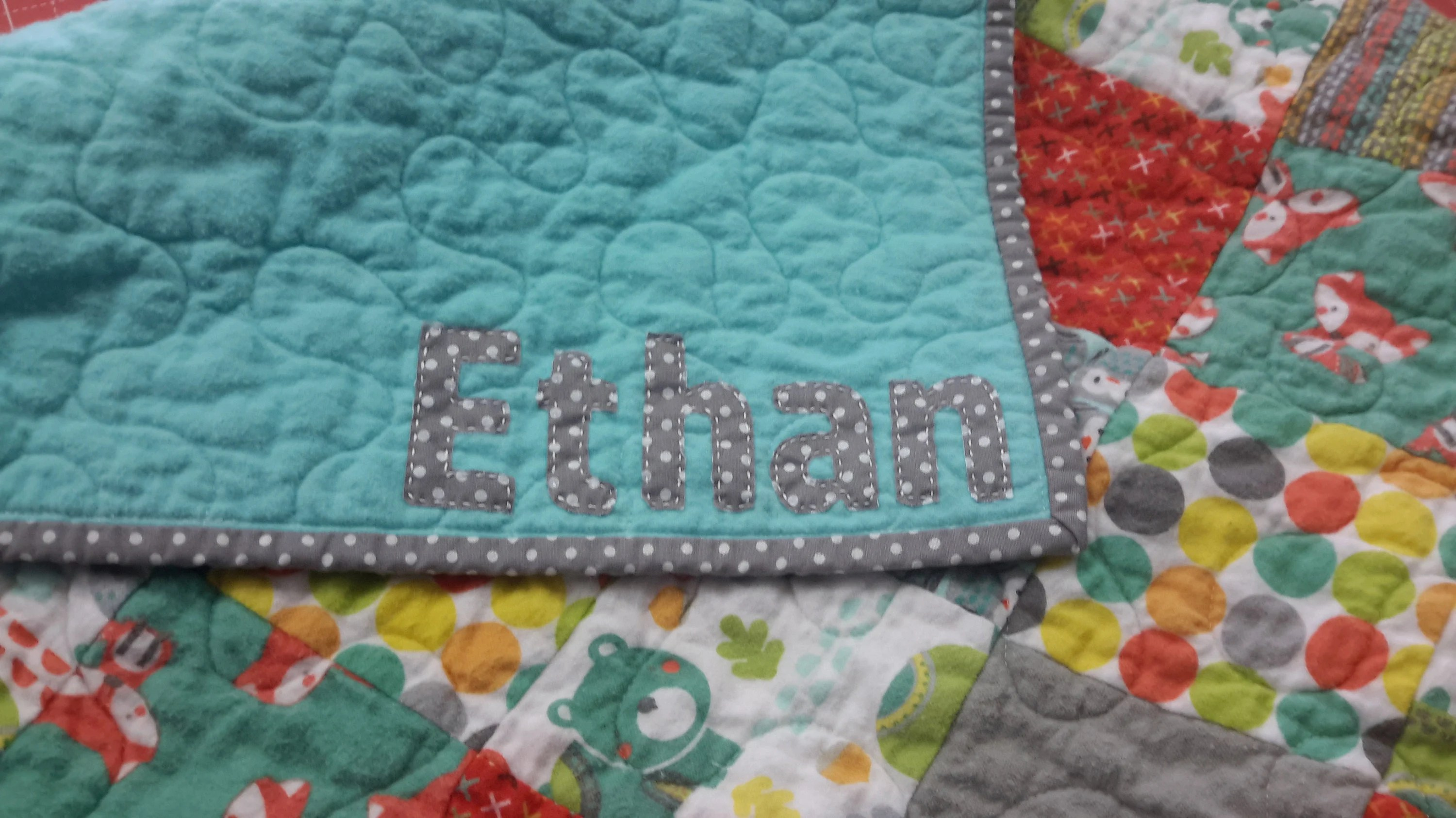 Quilt Personalization Add On  Add a Custom Name to the image 4