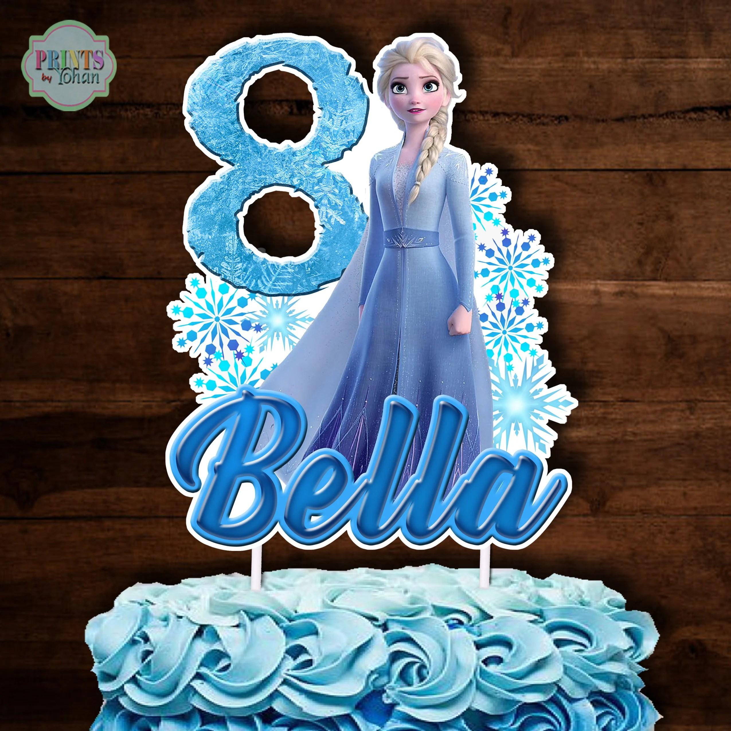 Frozen 2 Cake Topper Elsa Cake Topper Frozen 2 Centerpiece Etsy