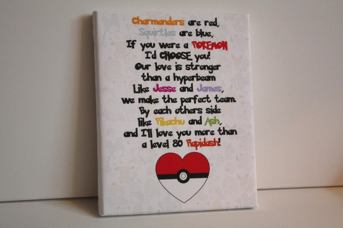 Personalised Pokemon Canvas