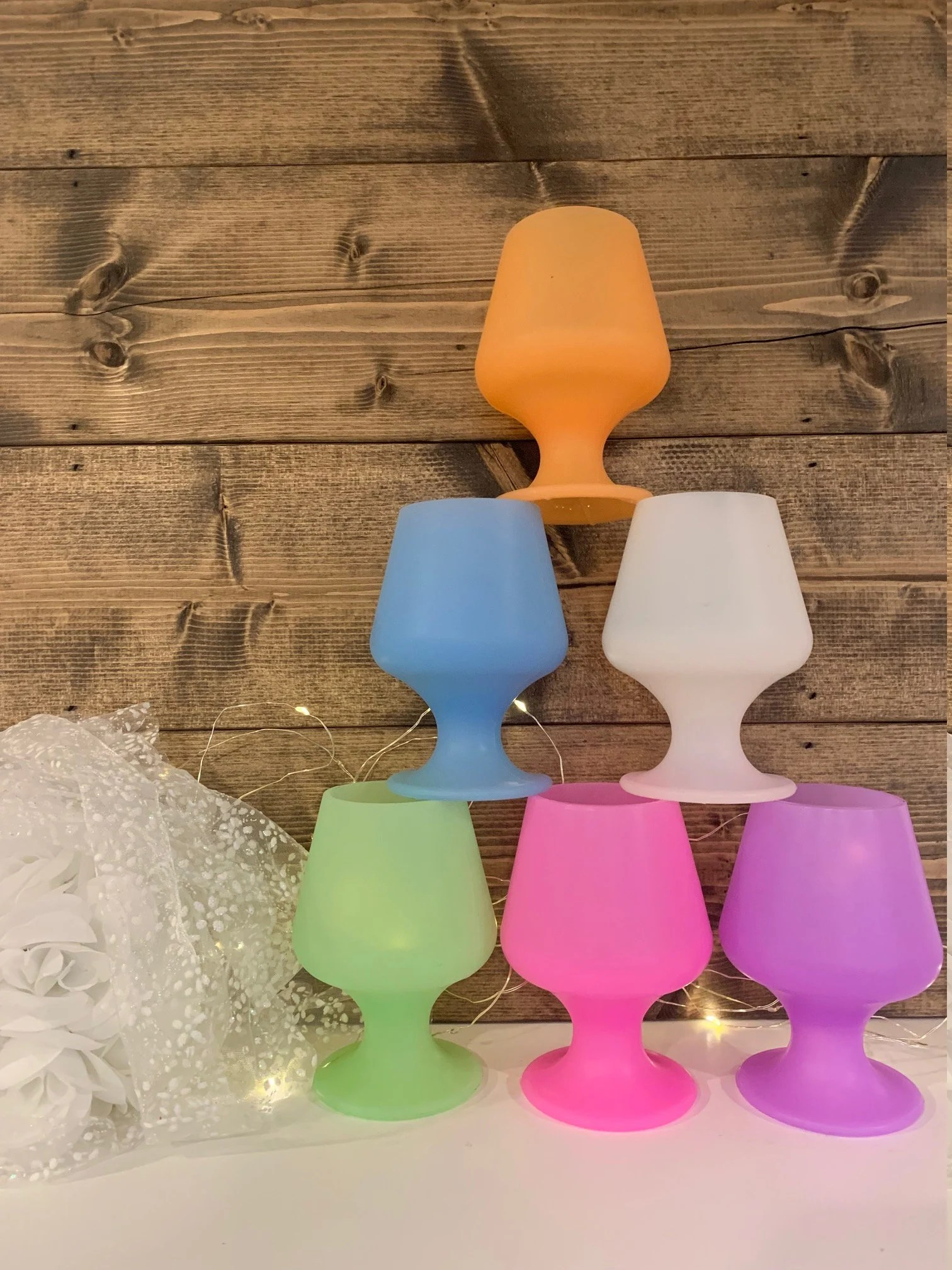 Blank or Personalized Silicone Stem Cups – Stemmed Silicone Cups – Champagne Silicone Cups – Colored Stemmed Champagne Wine Beach Cup – Each