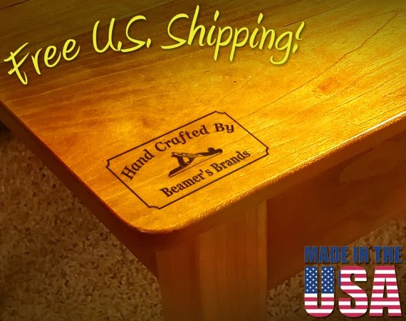 "Branding Iron - 2"" x 1"" Custom Text ""Hand Crafted By"" with Hand Plane for Wood"
