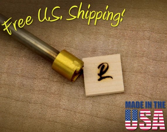 "Branding Iron - 1/2"" Round Custom Artwork for Wood"