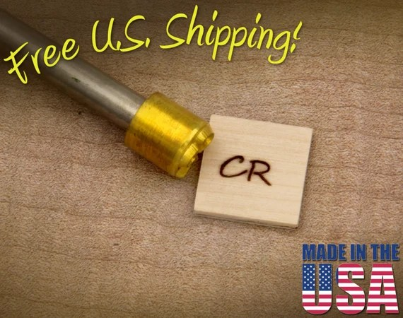 "Branding Iron - 1/2"" Round Custom Initials for Wood"