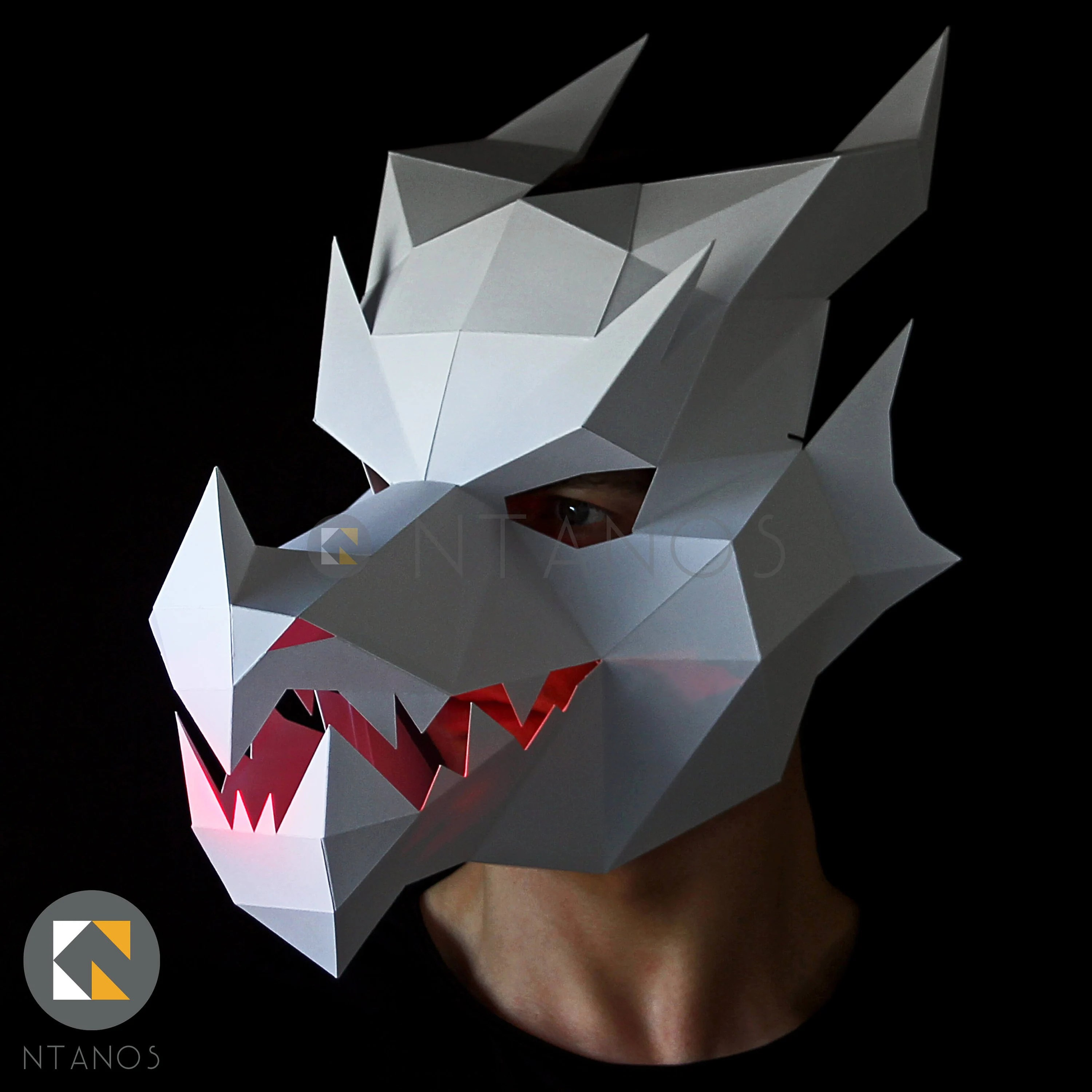 Dragon Mask Make Your Own 3d Dragon Mask With This Template