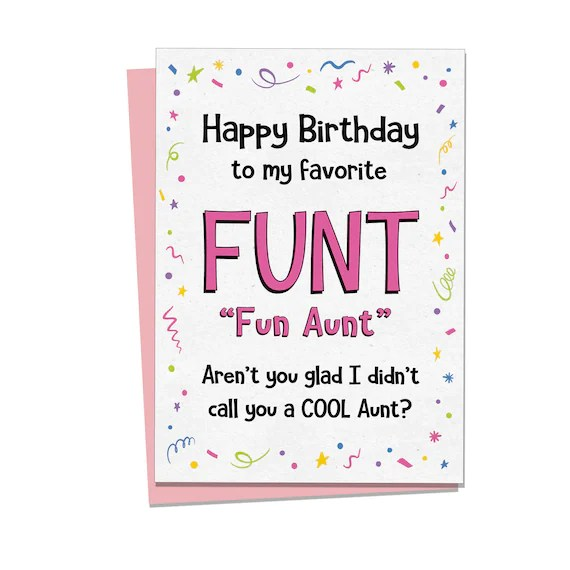 Aunt Birthday Card Rude Birthday Cards Gift For Auntie Etsy