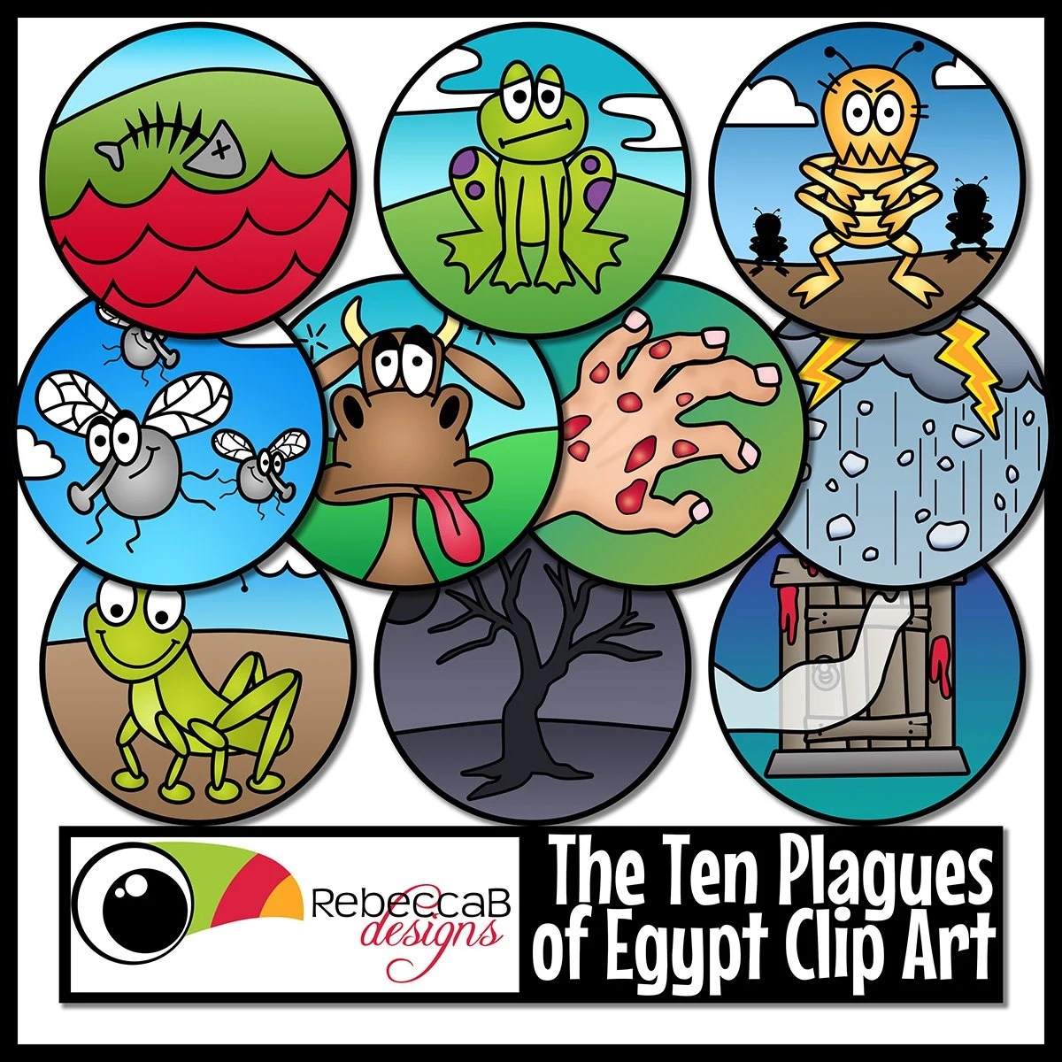 Ten Plagues Of Egypt Clip Art Moses Ten Plagues Clip Art